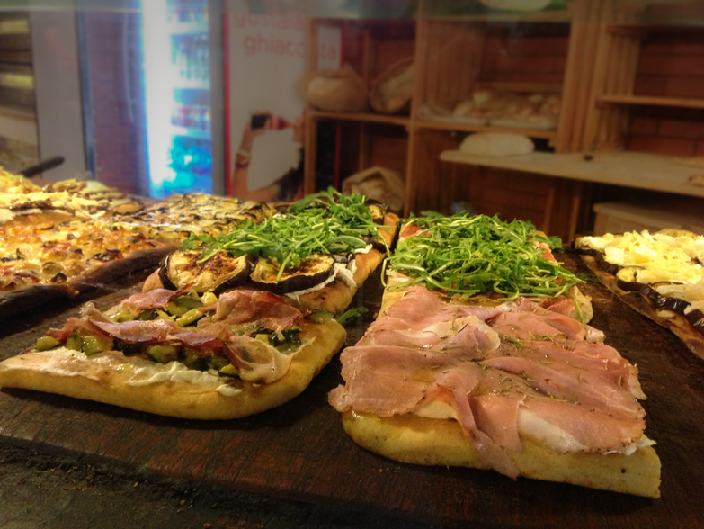 Римская пицца с разными начинками