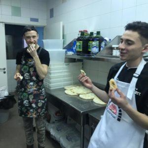 Дегустация коржа римской пиццы