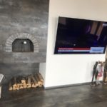 Домашняя помпейская печь на дровах в квартире