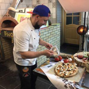 Участие в прямом эфире по приготовлению 4х видов теста для пиццы