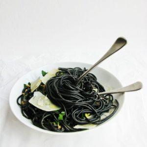Чернильные лингуни (спагетти)